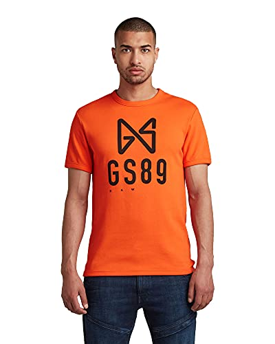 G-STAR RAW Butterfly Logo Camiseta, Naranja Signal Orange C812-c622, XL para Hombre
