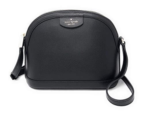Kate Spade New York Sylvia X-Large Dome Leather Crossbody Bag (Black)