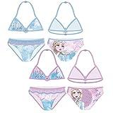 Familie24 Frozen Bikini Auswahl Badenanzug Beachware Bademode Kinderkleidung Anna ELSA Die Eiskönigin (rosa, 8 Jahre)
