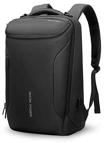 MS MARK RYDEN Wasserdichter Laptop Rucksack, Geschäftsreise-Rucksack mit großer Kapazität für Herren und Damen mit USB, geeignet für 17,3-Zoll- / 15,6-Zoll-Laptops