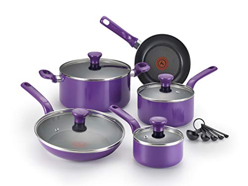 T-fal C511SE Excite Nonstick Thermo-Spot Dishwasher Safe Oven Safe PFOA Free Cookware Set,...