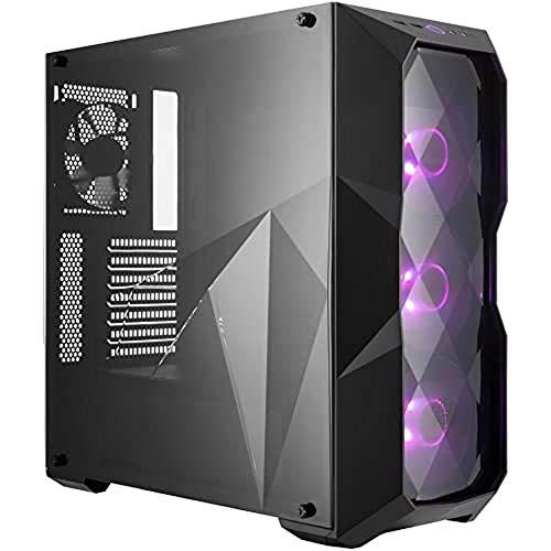 Cooler Master MasterBox TD500 - Caja Ordenador PC RGB con Diseño a Líneas Poligonales, 3 x 120 mm Ventiladores Preinstalados, Panel Lateral Transparente, Configuraciones Flujo de Aire Flexibles, Negro