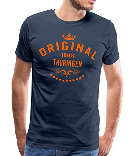 Spreadshirt Original Thüringen Rahmenlos® Männer Premium T-Shirt, L, Navy