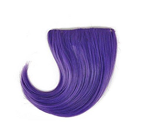 Colorful étape perruque, parti perruque, cheveux Bangs Perruques,Mauve