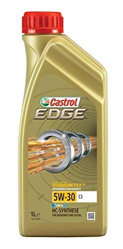 Castrol 52607 Edge 5W-30 C3- Aceite para motor con Titanium FST, 1 litro