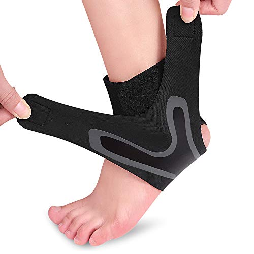 ZEPOHCK Ankle Support Brace Breathable Ankle Braces for Sports Protection Against Chronic Ankle Strain Sprained Fatigue for Women amp Men 1 Pcs Large Right foot