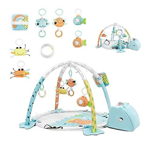 Tappetino da gioco per Neonati Mamabrum, ecologico e atossico, tappetino in schiuma spessa, impermeabile, antiscivolo, portatile, tartaruga, per Neonati 0-36 Mesi