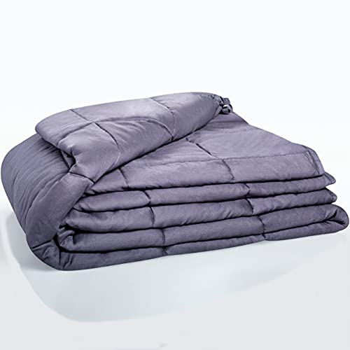 Quility Weighted Blanket for Adults - Heavy Heating Blankets for Restlessness (Insert Only, 60'x80'   15 lbs)