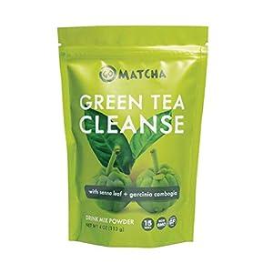 360 Nutrition Green Tea Detox Cleanse | 15 Servings | Weight Loss, Senna Leaf and Garcinia Cambogia Powder