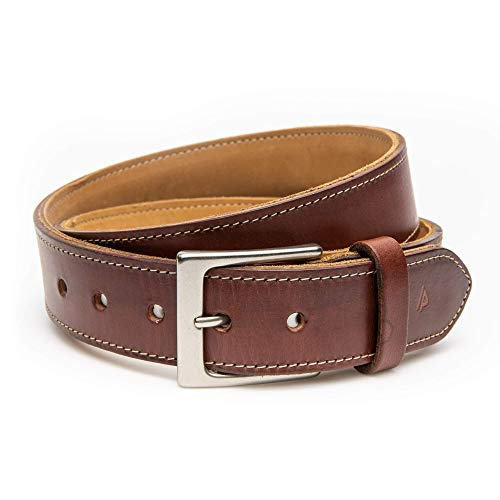 August+Peel Reinforced Leather Gun Belt (1.25' and 1.5') | Concealed Carry (CCW) | USA Made | Veteran Owned