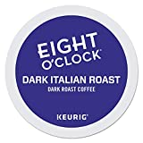 Eight O'Clock Coffee Dark Italian Roast, Single-Serve Keurig K-Cup Pods, Dark Roast Coffee, 96 Count