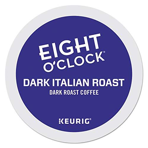 Eight O'Clock Coffee Dark Italian Roast, Single-Serve Keurig K-Cup Pods, Dark Roast Coffee, 96 Count