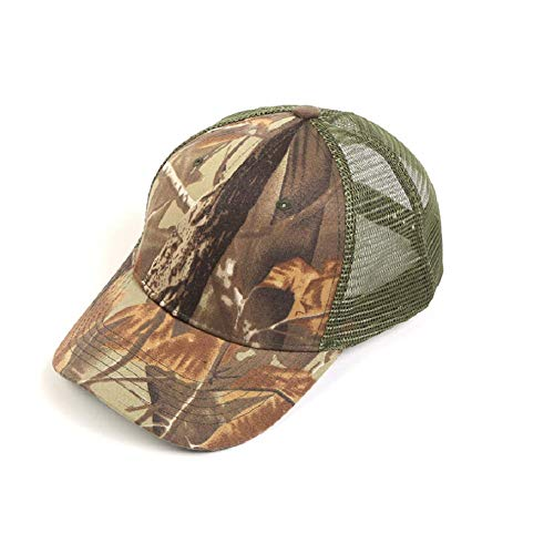 HYCOPROT Camo Hat, 6 Panel Mesh Military Tactical Hunting Baseball Cap (Blätter)