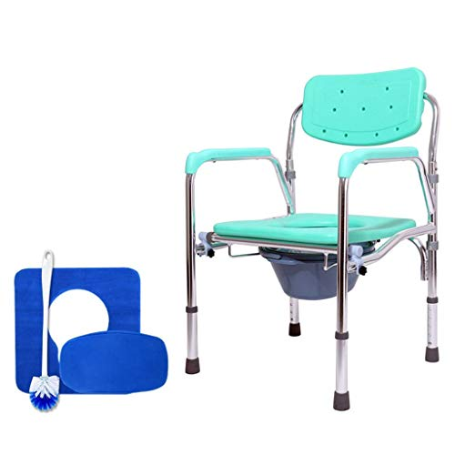 Home Furnishings Commode Chair Toilet Chairfolding Extra Wide Adjustable with Handles and Bucket Non Slip Leg Pad for Adults Handicap Elderly