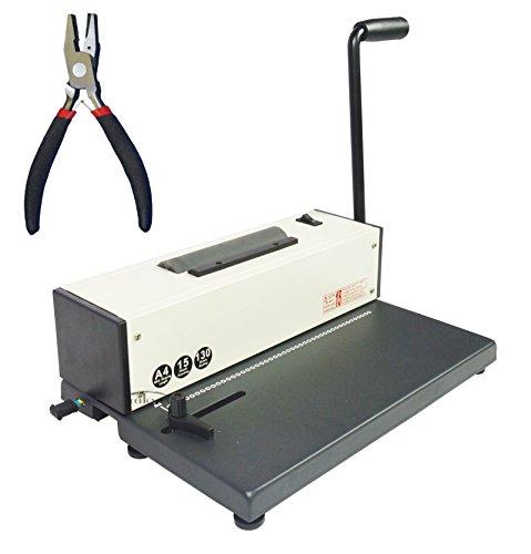INTBUYING Spiral Coil Binding Machine Binder Electric Coil Inserter All Metal Based Punching Binding Binder Puncher