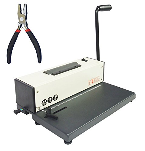 INTBUYING Spiral Coil Binding Machine Binder Electric Coil Inserter All Metal Based Punching Binding Binder Puncher