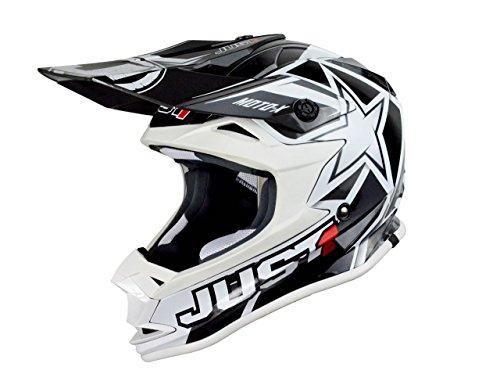Just 1 Helmets - Casco Motocross J32, Bianco, XL