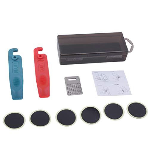 Abaodam Multifunción Bike Tire Rapair Tools Ciclismo Bicicleta Neumático Kit de reparación Herramientas Set (negro)