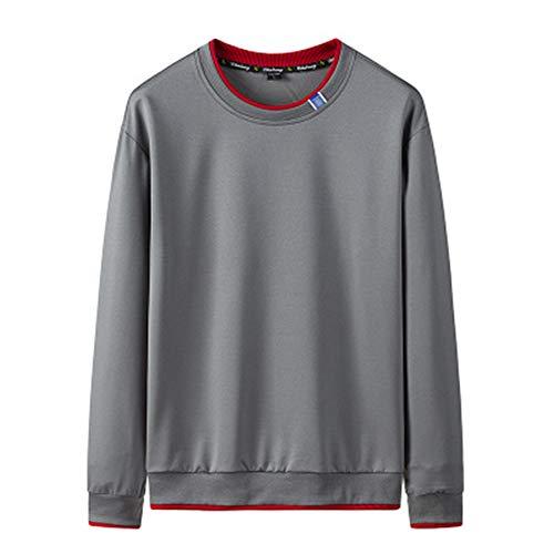 Mr.BaoLong&Miss.GO Men Round Neck Sweater Men Striped Casual Jacket Men Trendy Bottoming Shirt Long-Sleeved Sweater