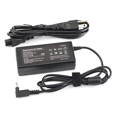 65W AC Adapter Laptop Charger for Acer Aspire 5 A515-54 A13-045N2A C720 R5-571TG C738T R7-372T V3-372T-5051 A115-31S5-371-52JR R7-371T C720P R5-471T R5-471T-52EE Swift 3 SF314-55G Supplied Power Cord
