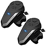 BETOWEY BT-S3 Intercom Moto Duo pour 2 Casques Bluetooth Kit Main Libre Headphones Intégrable Au Casque Moto Ski