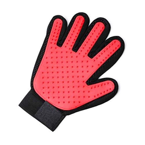 yanqiu Handschuh bequemer effizienter Haustierhaarentferner Handschuh perfekt für Katzen und Hunde mit langem oder kurzem Fell, atmungsaktives Waschen, Enthaarungs-Massagewerkzeug RD1