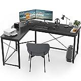 L Shaped Desk Corner Computer Desk Sturdy Computer Table Writing Desk Gaming Desk Workstation, Black