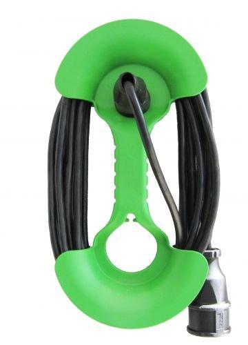 ViD Kabelhantel inkl. 15m Kabel Clevere Aufbewahrung für Verlängerungskabel grün