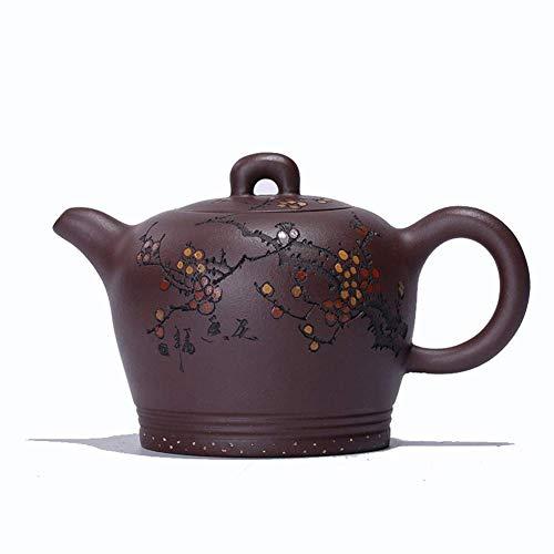 Bule de chá japonês, xícara de chá de primavera roxa de argila artistas roxos Cor do presente de trabalho manual Cor: lama roxa (Cor: lama roxa)