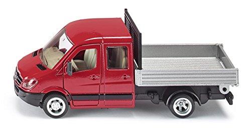 SIKU 3538 - Camion avec Plateau, 1:50, Rouge/Argent, Métal/Plastique, Plateau Basculant