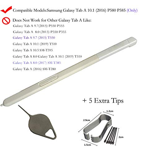 1PC Eaglestar White P580 Replacement S Stylus Pen Pointer Pen for Black Samsung Galaxy Tab A 10.1 P580 P585