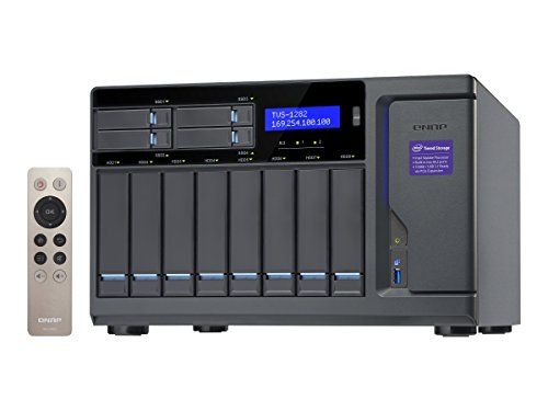 QNAP TVS-1282 NAS Tower Ethernet LAN Black - NAS & Storage Servers (HDD, SSD, Serial ATA III, 2.5/3.5', 0, 1, 2, 3, 4, 5, 6, JBOD, FAT32,HFS+,NTFS,ext3,ext4, Intel Core i7)