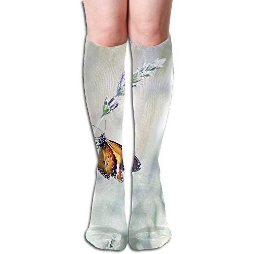 wwoman Tube High Keen Sock Bottes Chaussettes Compression Lavande Crew Chaussettes Longues Sport