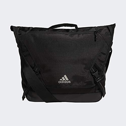 adidas Unisex Sport ID Messenger Sling Backpack, Heather Grey/Black, ONE SIZE