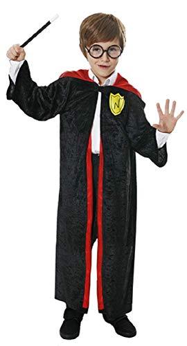Garçons pour Enfants Magicienne Livre Jour Halloween Déguisement Costume Tenue - Noir, 7-9 Years