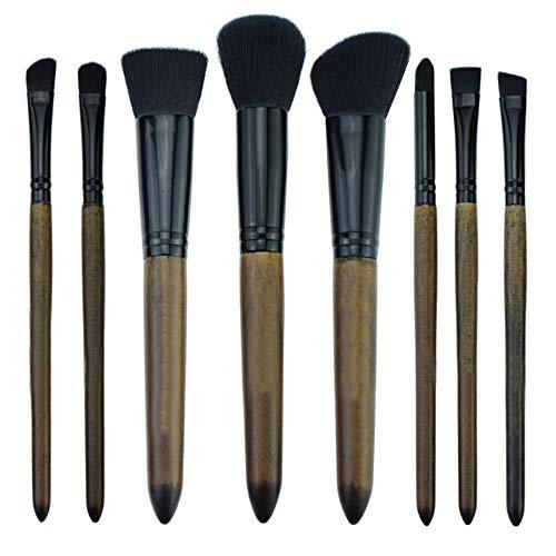 LUOSI Mode Produit for Fille de poignée en Bambou Pinceau de Maquillage Fard à paupières Costume Pinceau à lèvres Maquillage Outil (Color : Brown)