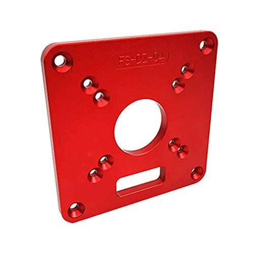 Frästischeinsatzplatte RT0700C, 120 x 120 x 8 mm platte, Aluminiumtrimmerringschraube für Holzbearbeitung