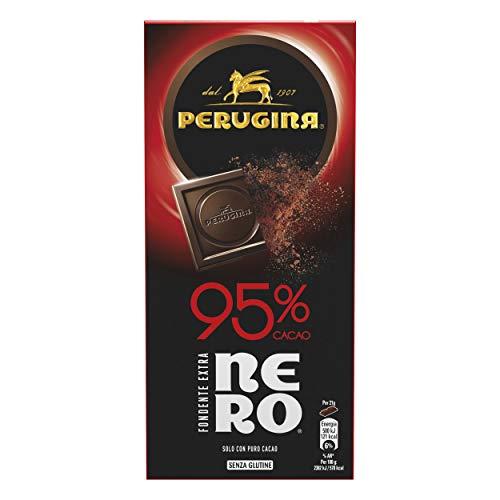 Perugina Nero Fondente Extra 95% tavoletta di cioccolato fondente extra con 95% di cacao, 85 g