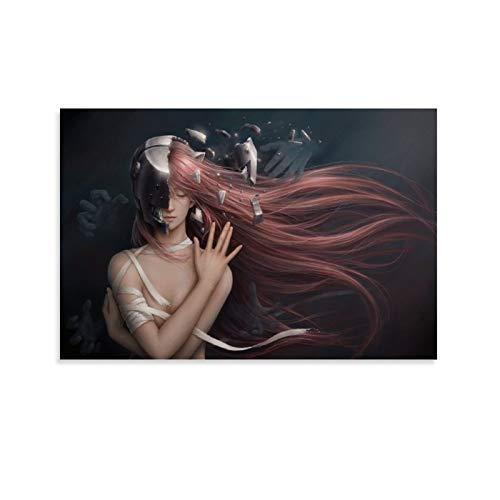 IEJDA Kunstposter Elfen Lied Poster, dekoratives Gemälde, Leinwand, Wandkunst, Wohnzimmer, Poster, Schlafzimmer, Malerei, 30 x 45 cm