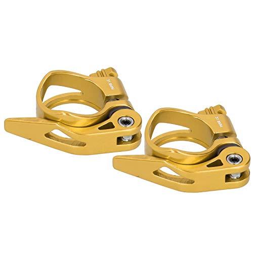 Abrazadera de tija de sillín Durable Post Abrazadera de liberación rápida, para tubo de asiento de 31,8 mm (dorado)
