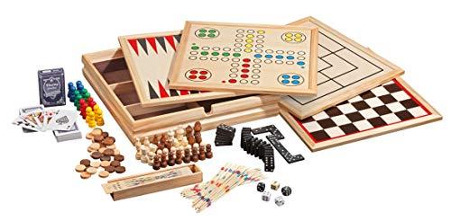 Philos 9960 - Set di Giochi da Tavolo, 10 Combinazioni di Giochi