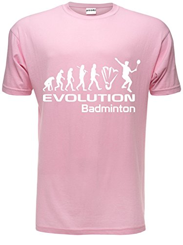 """Evolution eines Badminton \""""Herren-T-Shirt, Geschenk zum Geburtstag Gr.S"""