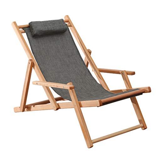 Tumbona Plegable Tumbona de jardín/Silla de Playa/Tumbonas de Ocio, Ajustable con apoyabrazos Ancho, Sentado y acostado de Doble Uso para Viajes en Interiores y Exteriores