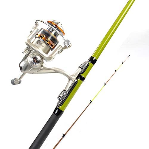 Barra para pesca Caña de pescar telescópica y carrete de metal Combo Poste de pesca para viajes agua salada de agua dulce barco de pesca para principiantes cañas de pescar ( Size : 2.1M )