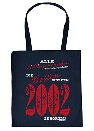 zum 17. Geburtstag Geschenk Stofftasche Lieblingsmenschen 2002 Baumwolltasche Geschenkidee zum 17 Geburtstag 17 Jahre