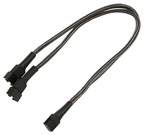 Nanoxia NXPWY30C Internes Stromkabel 0,3 m - Interne Stromkabel (0,3 m, 4-pin PWM, 2 x 4-pin PWM, Male Connector/Female Connector, Gerade, Gerade)