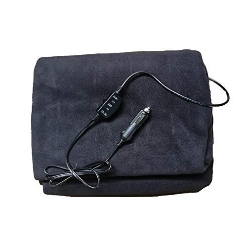 QEPOL Auto elektrische Heizdecke, beheizt 12 Volt Vlies Konstante Temperatur Anti-Überhitzung Reise Heizdecke RV, für die Temperatur von Froid Komfortable Chauffe Lit. (schwarz)