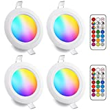 Faretti LED da Incasso 8W (equivalenti a 60W), Colorate RGBW RGB...