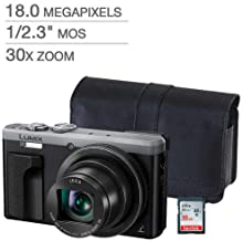 Panasonic LUMIX DMC-ZS60 Digital Camera Silver BUNDLE! PANASONIC Case & 16GB SD Card