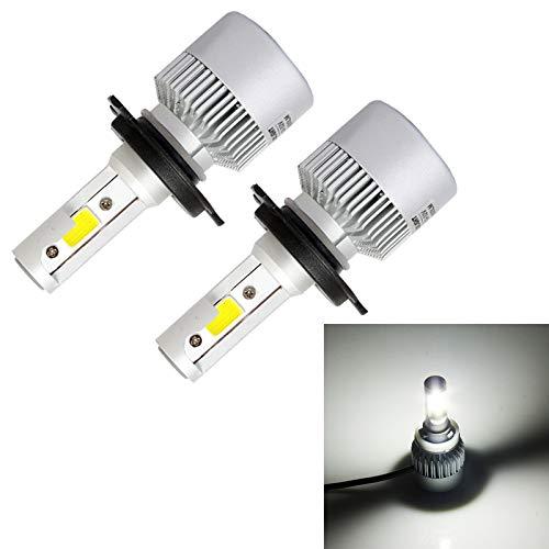 Broccoli21 Lámpara DC 9-32V (Blanco promiscuo), S2 2PCS H4 18W 1800LM 6500K 2 COB LED Impermeable IP67 Lámparas de Faros del Coche (Color : White Light)